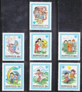Mongolia MNH 1147-53 Nursery Tales 1980