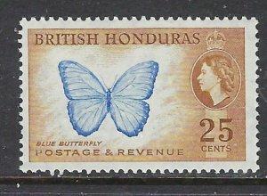 British Honduras 151 MNH 1953 Butterfly (ap6821)