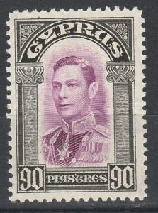 CYPRUS 1938 KGVI 90 PI
