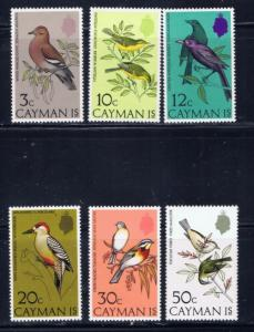 Cayman Is 322-27 NH 1974 Birds