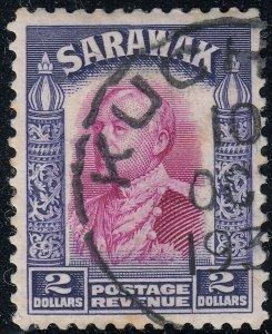 Sarawak 1934 KGV $2 Purple & Violet FU