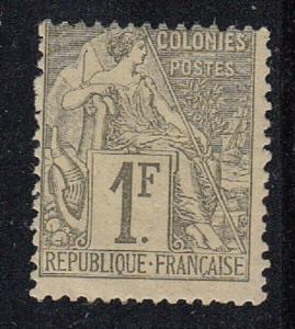 French Colonies Scott 59 Mint hinged (Catalog Value $80)