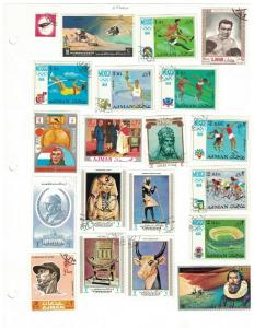 Ajman -  A Nice Selection Of 55 All Different. Mostly Used.     #02 AJMAN55