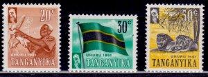 Tanganyika, 1961, Independence, MNH