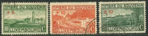 LUXEMBOURG Sc#B1-B3 1921 Scenes Complete Set Used