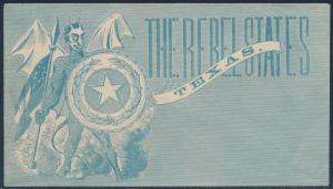 #ST-92 REBEL STATES TEXAS UNION CIVIL WAR PATRIOTIC COVER BS7092