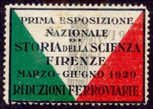 Italy 1929 Florence Science Expo Poster Stamp