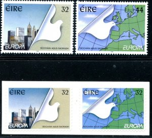 IRELAND Sc#960-963 1995 Europa Issue Gummed & Self Adhes Complete Set OG Mint NH