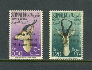 SOMALILAND GAZELLES SCOTT#C68/69 MINT NEVER HINGED--SCOTT $69.00