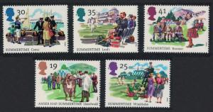 Great Britain The Four Seasons Summertime 5v 1994 MNH SG#1834-1838 SC#1572-1576