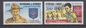 J29539, 1982 djibouti set mnh #c163-4 scouts