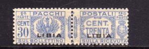 LIBIA 1927 - 1937 LIBIA PACCHI POSTALI PARCEL POST CENT. 30c MH