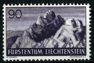 Liechtenstein, 1937 Landscapes, 90 Rp. MNH