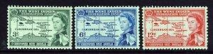 ST.CHRISTOPHER NEVIS & ANGUILLA QE II 1958 W.I. Federation Set SG 120 - 122 MINT