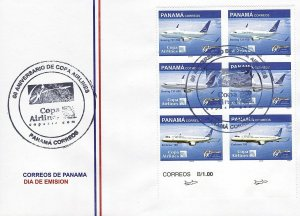 PANAMA COPA AIRLINES, AIRPLANES Sc 943 FDC 2010