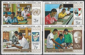 Burundi 343-6  MNH International Education Year