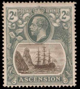 ASCENSION  Scott 13 MH* KGV Ship stamp
