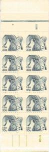 SCOTT# 1949 BK#142 20¢ RAM BOOKLET MISCUT BOTH PANES MINT N.H. PL.#19 SCARCE