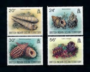 [99754] British Indian Ocean Territory 1996 Marine Life Sea shells  MNH