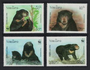 Laos WWF Sun Bear 4v SG#1396-1399 SC#1174-1177 MI#1410-1413