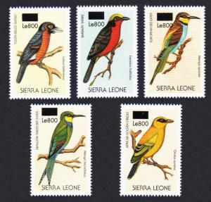 Sierra Leone Birds 5v overprint RARR MI#5013-5017