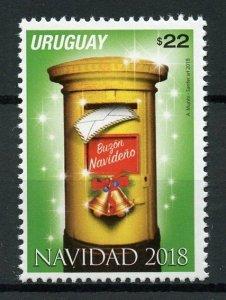 Uruguay Stamps 2018 MNH Christmas Postbox Seasonal 1v Set