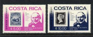 Costa Rica C752-3 MNH Rowland Hill, Stamp on Stamp