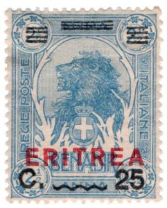 (I.B) Italy (Eritrea) Postal : 25c on 2c Overprint