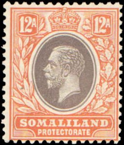 Somaliland Protectorate #72, Incomplete Set, 1921, Hinged