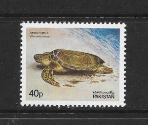 TURTLE - PAKISTAN #547  MNH