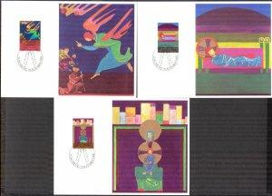 Liechtenstein 1980 Christmas 3 Maxi Cards FDC