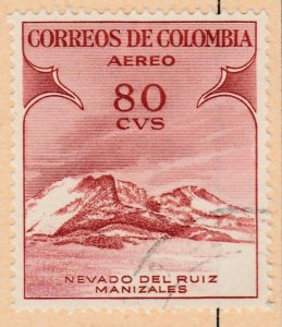 Colombia Air Post 1954 80c Fine Used A8P52F44