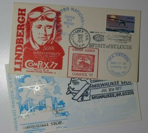 COMPEX 50th Anniv LIndbergh Chicago IL 1977 Spirit of St Louis Philatelic Expo