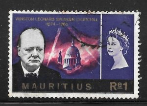Mauritius 298: 1r Churchill, St Pauls Cathedral, used, F-VF