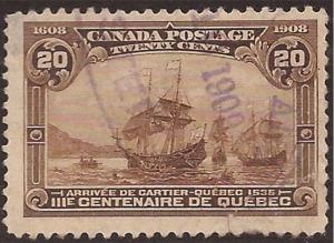 Canada - 1908 20c Quebec Tercentenary -   - Scott #103