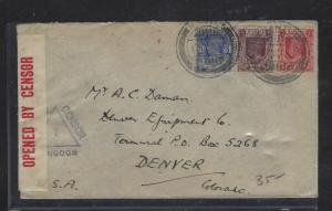 BURMA (P2810B)   1940  CENSORED   KGVI   2A+1A_6P  TO USA