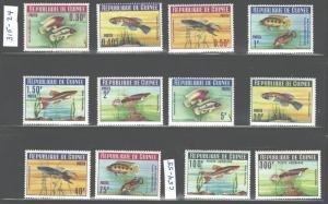 REP. GUINEE1964  MARINE LIFE- FISH #315-324+#C54-C55 MNH