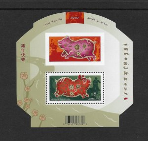 CANADA #2202  YEAR OF THE PIG  S/S  MNH