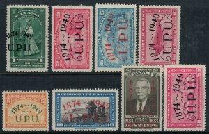 Panama #368-70, C114-8* CV $8.70
