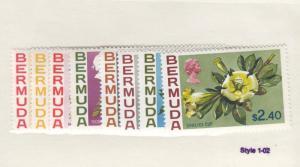 BERMUDA LOT KKMK4455 # 255-271 VF-MNH FLOWERS CAT VALUE $53.80
