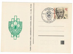 Czechoslovakia 1990 Card Special Cancellation Scouting
