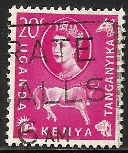 Kenya, Uganda & Tanzania 1960 Scott# 123 Used
