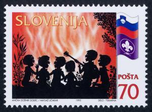 Slovenia 236 MNH Slovenian Boy Scouts, Flag, Music