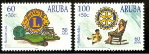 ARUBA 1998 ROTARY AND LIONS INTERNATIONAL Semi Postal Set Sc B51-B52 MNH
