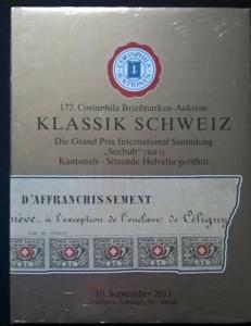Auction catalogue KLASSIK SCHWEIZ SEEBUB Kantonals Sitzende Helvetia gezahnt