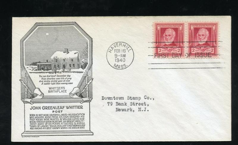 US 865 ADDR John Whittier Famous American Anderson