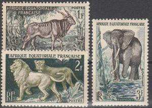 French Equatorial Africa #195-7 MNH F-VF  (V4200)