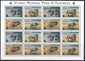 Mozambique, Fauna, WWF, Animals MNH / 2000