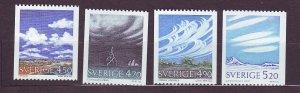J23136 JLstamps 1990 sweden set mnh #1845-8 clouds