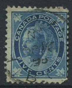 Canada - Scott 70 - Queen Victoria - 1897 - Used - Single 5c Stamp